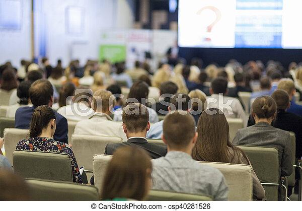 会議, ideas., それら, 概念, グループ, ビジネス 人々, スクリーン, 監視, チャート, 大きい, 前部, プレゼンテーション - csp40281526