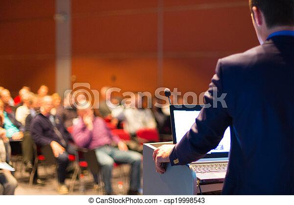会議, presentation., スピーカー, ビジネス - csp19998543