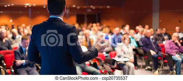 会議, presentation., スピーカー, ビジネス - csp20735537