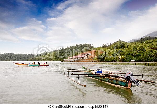 伝統的である, インドネシア人, ボート - csp1523147