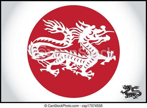 伝統的である, ドラゴン, ベクトル, アジア人 - csp17074558