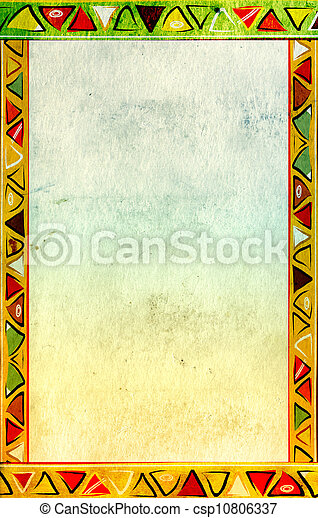 伝統的である, パターン, アフリカ - csp10806337
