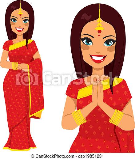 伝統的である, 女, indian - csp19851231