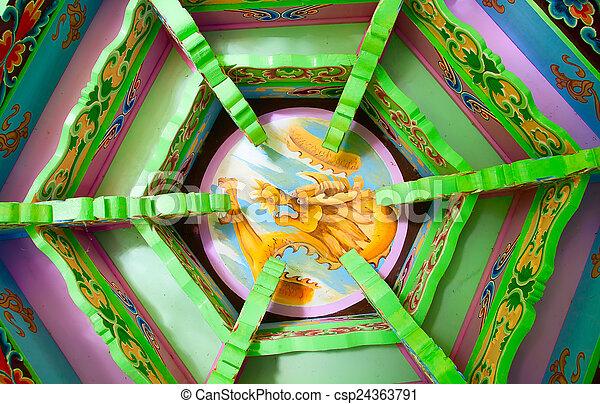 伝統的である, 庭, 中国語 - csp24363791