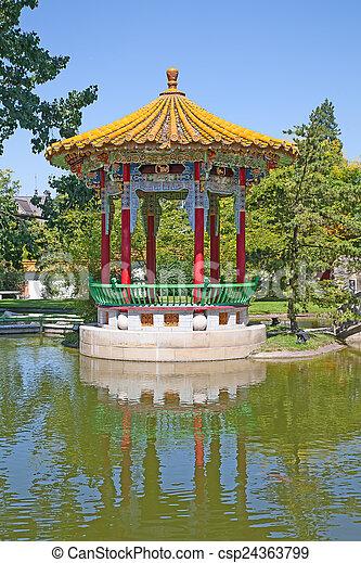 伝統的である, 庭, 中国語 - csp24363799
