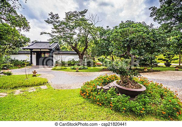 伝統的である, 庭, 中国語 - csp21820441