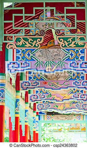 伝統的である, 庭, 中国語 - csp24363802