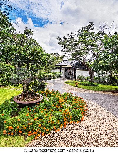 伝統的である, 庭, 中国語 - csp21820515