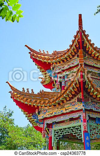 伝統的である, 庭, 中国語 - csp24363778