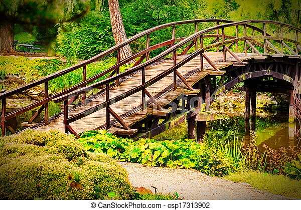 伝統的である, 橋, 日本語 - csp17313902