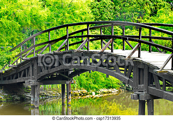 伝統的である, 橋, 日本語 - csp17313935
