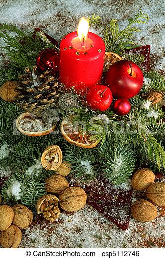 伝統的である, 装飾, クリスマス - csp5112746