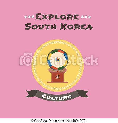伝統的である 韓国語 ベクトル ドラム イラスト 概念 ドラム