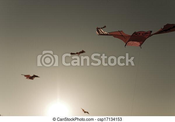 伝統的である, 韓国, 飛行, 南, 文化 - csp17134153