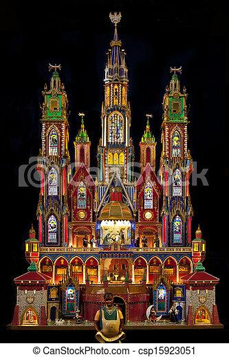 伝統的である, krakow, ポーランド, -, 現場, nativity - csp15923051