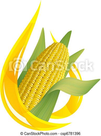 低下, トウモロコシ, oil., オイル, cob., 定型 - csp6781396