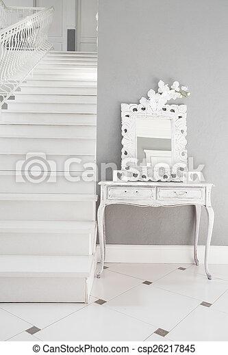 住处, 白色, 楼梯 - csp26217845