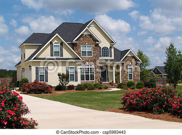 住宅, 故事, 二, 家 - csp5993443
