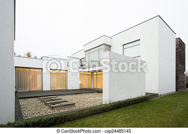 住宅, 現代, 設計された, 台地 - csp24485145