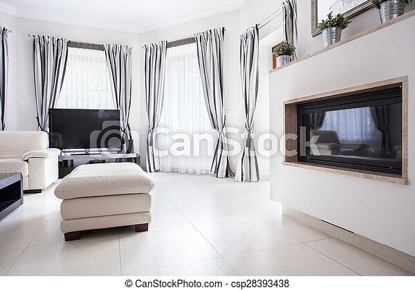 住宅, 部屋, 贅沢, 図画 - csp28393438