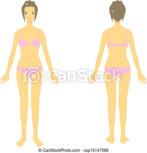 体, 女, そっくりそのまま, 体 - csp15147066