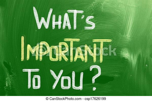 何か, 概念, あなた, 重要 - csp17626199