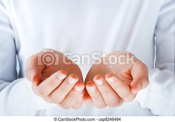 何か, 行為, 提出すること, 手 - csp8246494