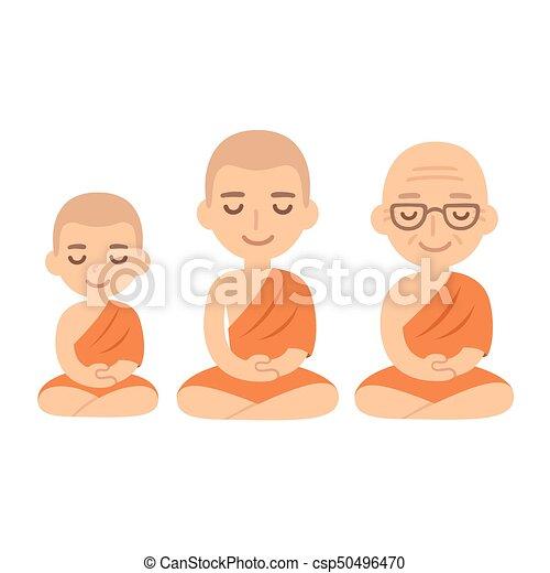 佛教徒, 考慮, 修士 - csp50496470