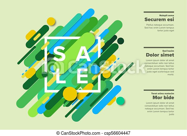 作られた, 色, ポスター, 抽象的, ライン, セール, ベクトル, 大きい - csp56604447