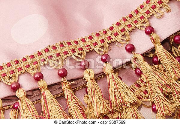 作られた, 調子, 糸, 2, 装飾, ブラシ, カーテン - csp13687569