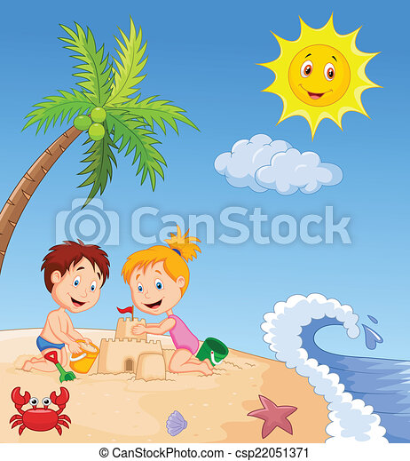作成, 砂, trop, 城, 子供 - csp22051371