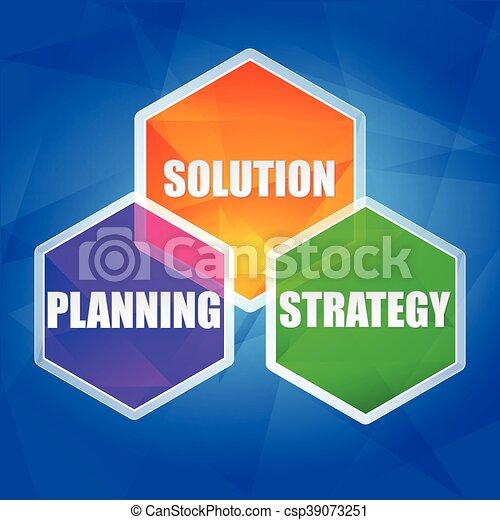 作戦, vecto, 解決, 計画 - csp39073251