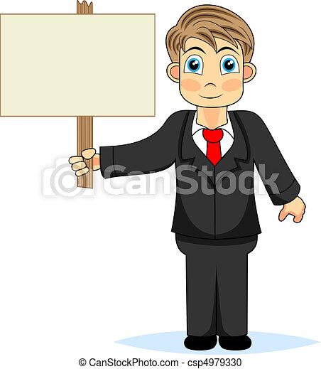 保有物, ビジネスマン, 木, かわいい, 男の子, s - csp4979330