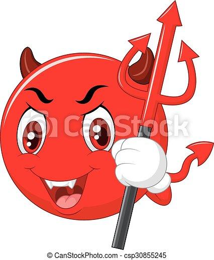 保有物, 悪魔, 漫画, 赤, emoticon - csp30855245