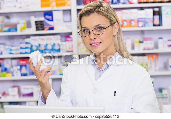 保有物, 薬, ジャー, 薬剤師 - csp25528412
