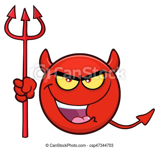 保有物, 表現, 漫画, 悪魔, emoji, 顔, trident, 赤, 悪, 特徴 - csp47344703