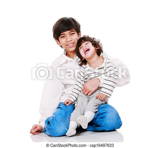 保有物, child., 古い, 兄弟, 不具, 2, 大きい, 年 - csp16497633