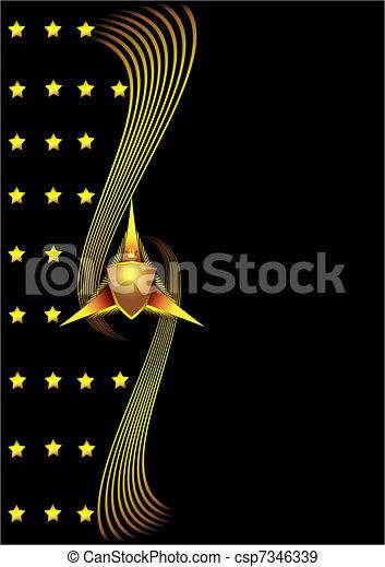 保護, 背景, 星, 線 - csp7346339