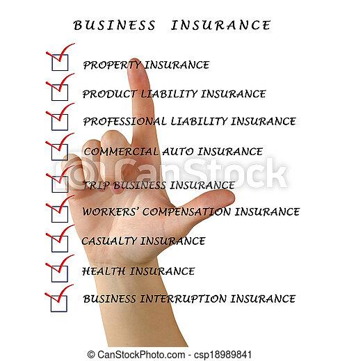 保険, ビジネス - csp18989841