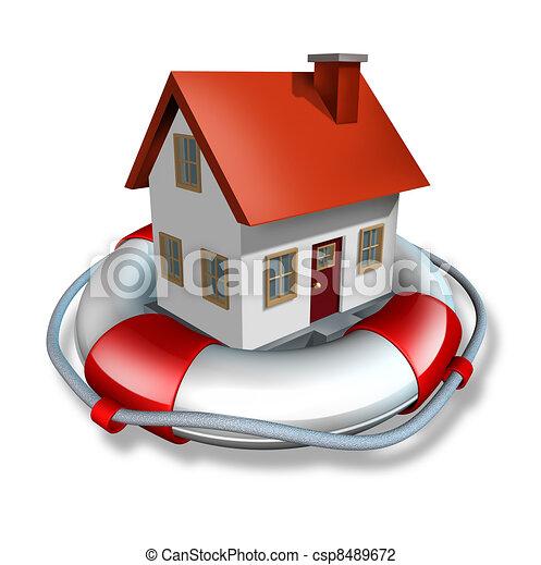 保険, 家 - csp8489672