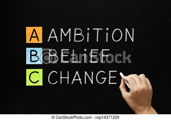 信念, 変化しなさい, 野心 - csp14371229