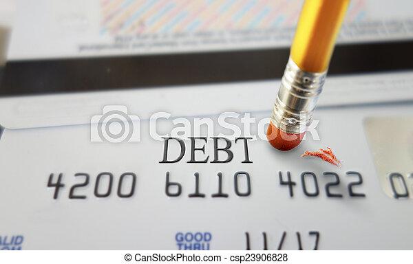 信用, 債務 - csp23906828