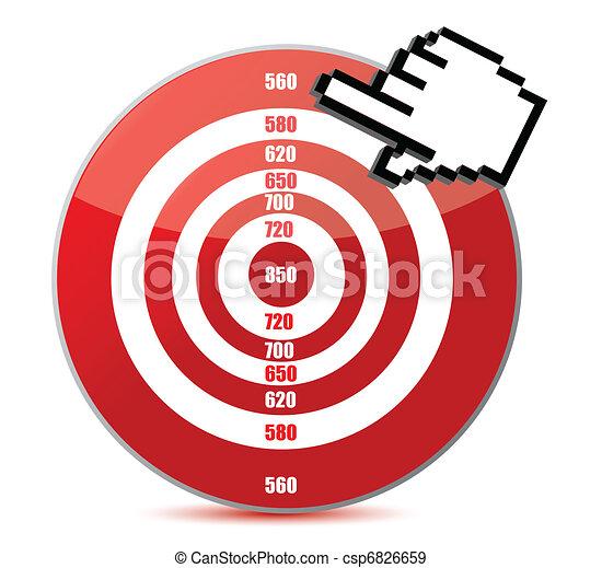 信用, 概念, 得分, 低 - csp6826659