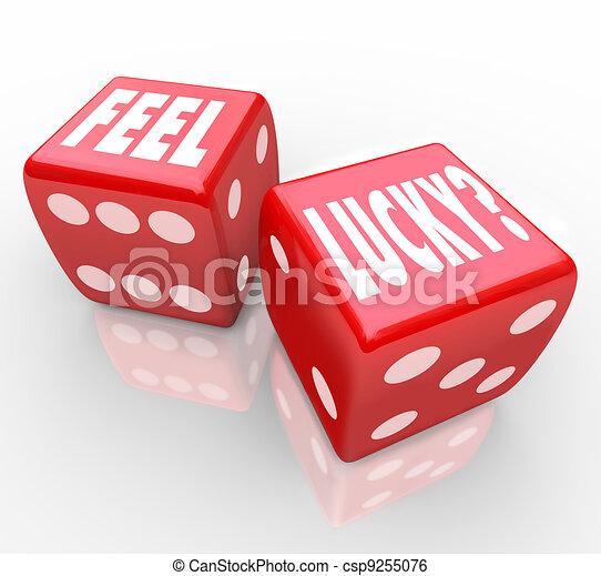 信頼, さいころ, 感じ, 質問, 幸運, 勝利 - csp9255076