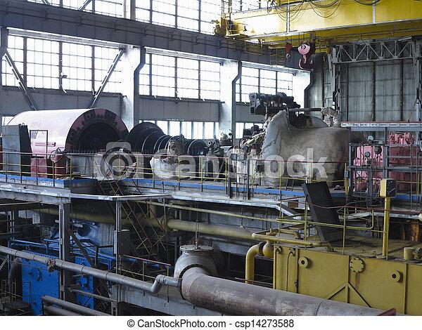 修理, 力発電機, の間, タービン, 蒸気 - csp14273588