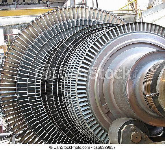 修理, 力発電機, の間, タービン, 蒸気 - csp6329957