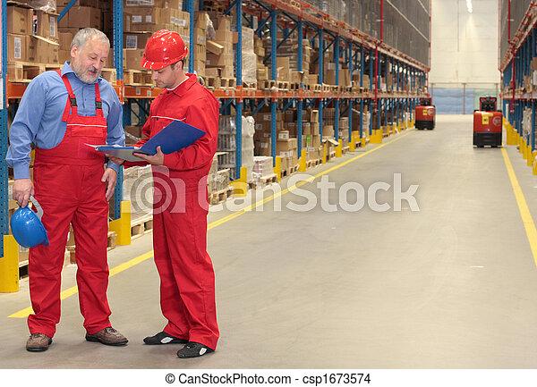 倉庫, ユニフォーム, 2, 労働者 - csp1673574