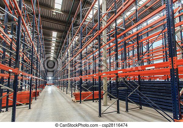 倉庫, ラック, 空 - csp28116474
