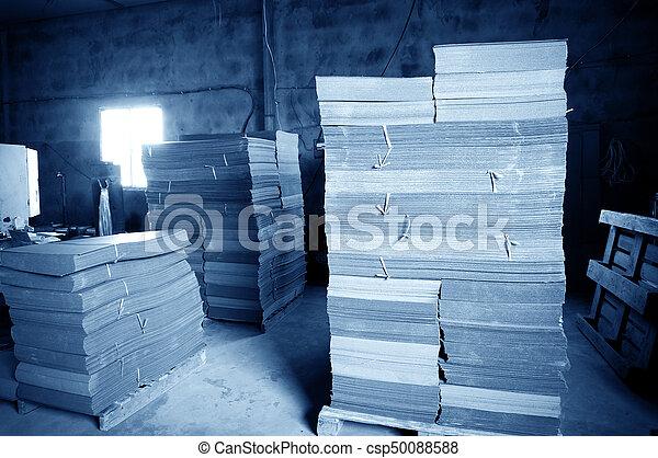 倉庫, 中, ボール紙 - csp50088588
