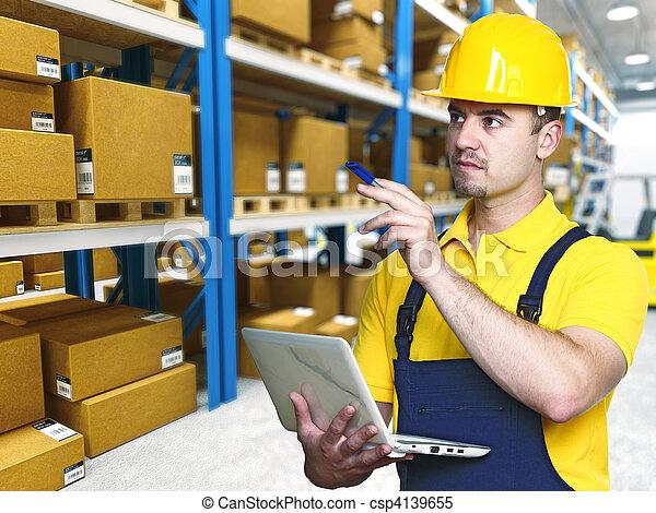 倉庫, 仕事, 労働 - csp4139655